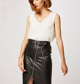 Morgan PU Leather Skirt