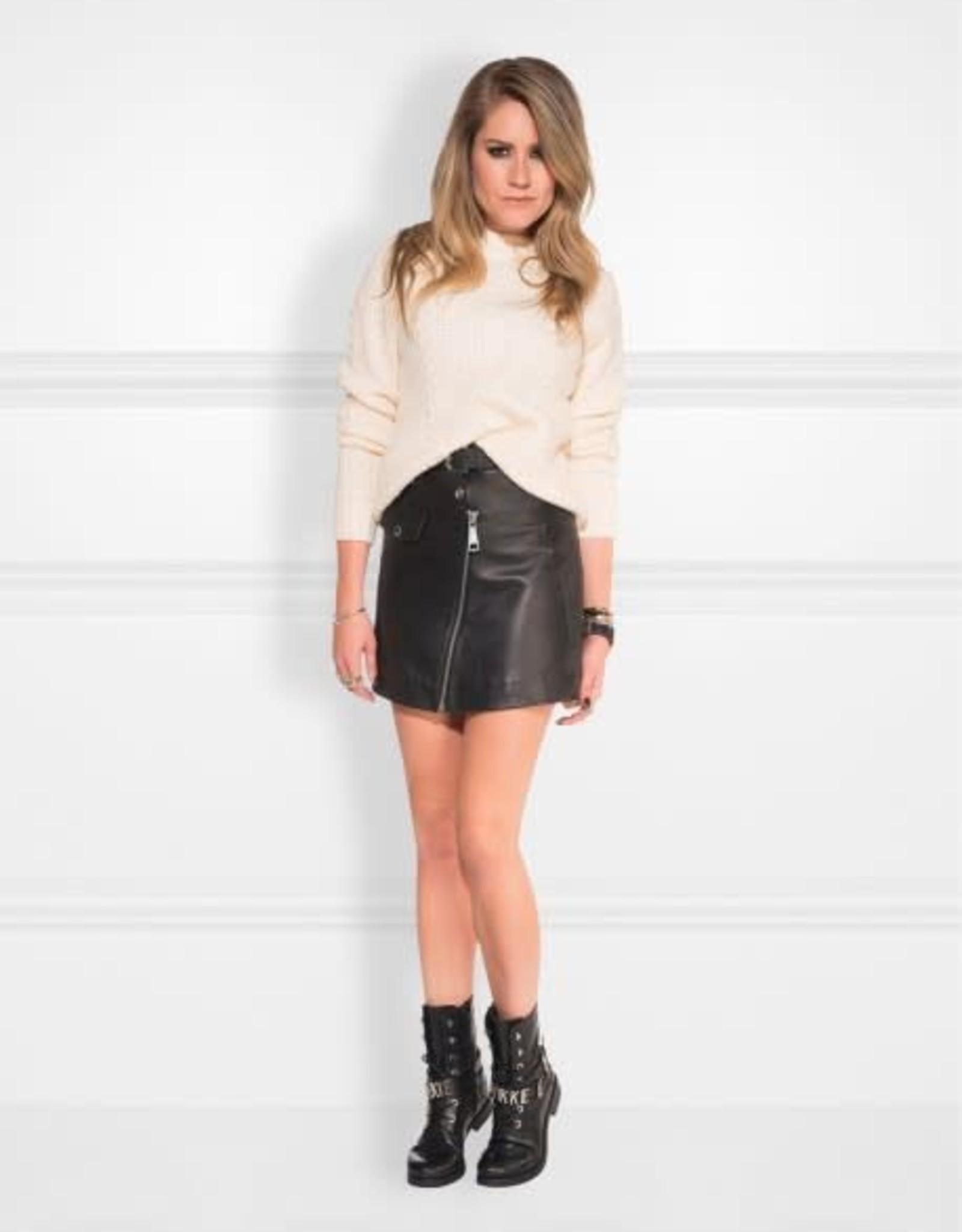 Kate Moss Mali Motor Skirt Black