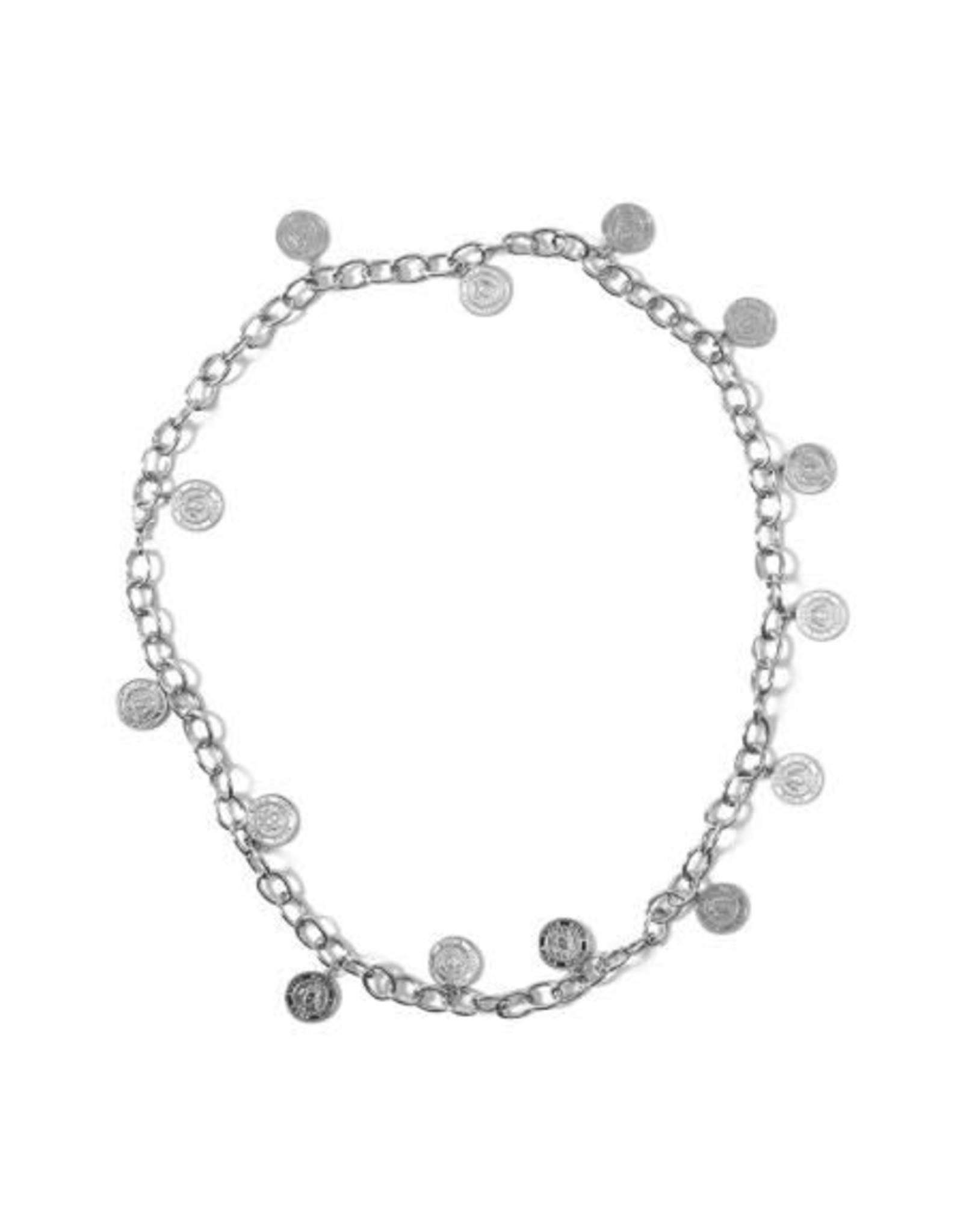 Nikkie Coin Chain Belt Silver