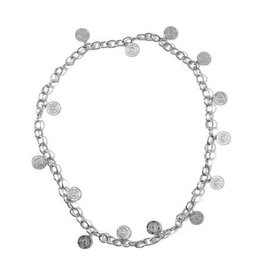 Nikkie Coin Chain Belt Silver