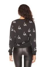 LA Sisters LA logo Crewneck Sweater