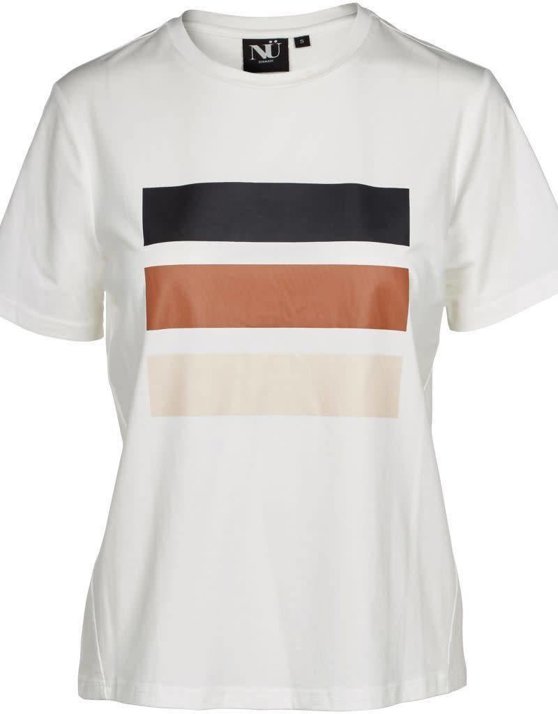 NÜ Denmark T-Shirt With Stripe Print 5956-50