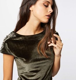 Morgan T-Shirt Satin Velvet