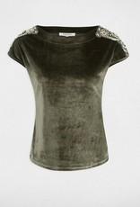 Morgan T-shirt Satijnen Fluweel