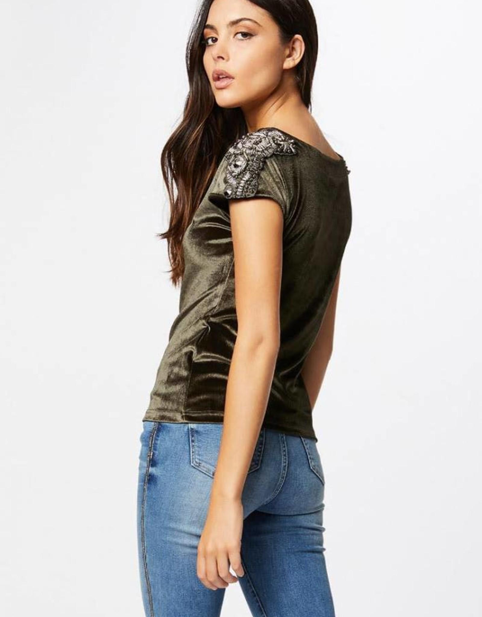 Morgan T-Shirt Satin Velvet