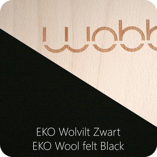 Wobbel Wobbel Original Blank Gelakt  Zwart