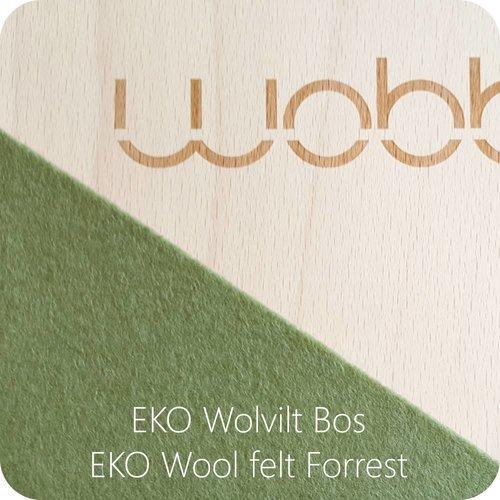 Wobbel Wobbel Original Blank Gelakt Bos