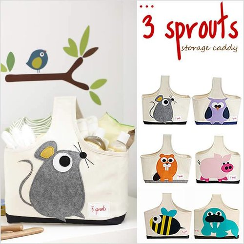 3 Sprouts 3 Sprouts Opbergtas Muis