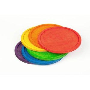 Grapat Grapat Set van 6 regenboog schalen
