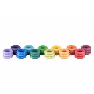 Grapat Grapat Set van 36 regenboog ringen
