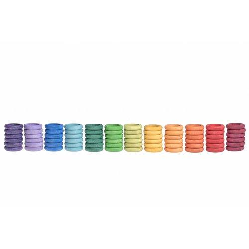 Grapat Grapat Set van 72 regenboog ringen
