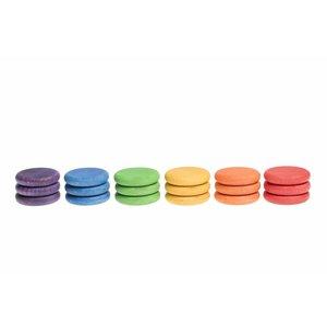 Grapat Grapat Set van 18 houten munten