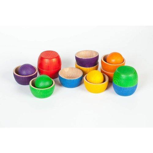 Grapat Grapat Set van 12 bakjes en 6 grote ballen