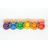 Grapat Set van 12 bakjes en 6 grote ballen