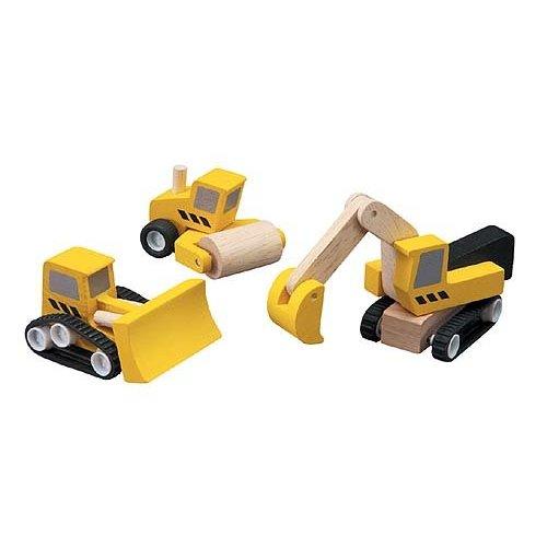 Plan Toys Plan Toys Wegwerkers set 3 delig