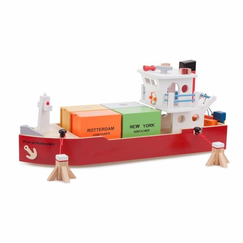 New Classic Toys New Classic Toys Containerschip met 4 containers