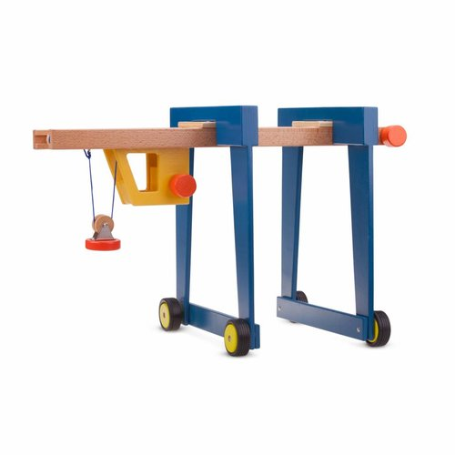 New Classic Toys New Classic Toys Containerkraan op wielen