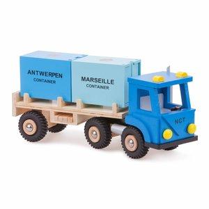 New Classic Toys New Classic Toys Vrachtwagen met zeecontainers