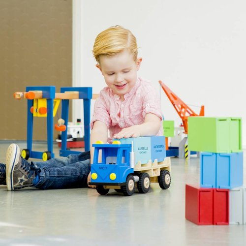 New Classic Toys New Classic Toys Rijnaak met twee containers