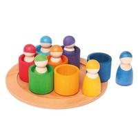 Grimms  7 vriendjes in bakjes in regenboogkleuren