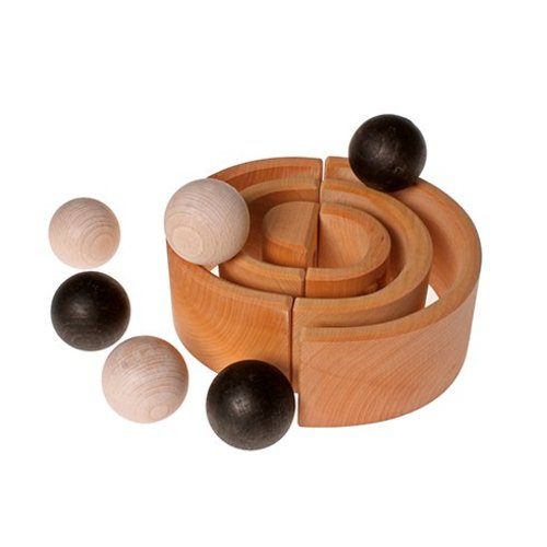Grimms Grimms 6 houten ballen monochroom
