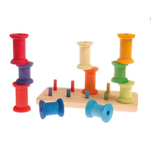 Grimm's Stapelspel grote spoelen | Grimm, Speelgoed, Houten