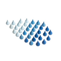 Grapat Mandala Blauwe Regendruppels