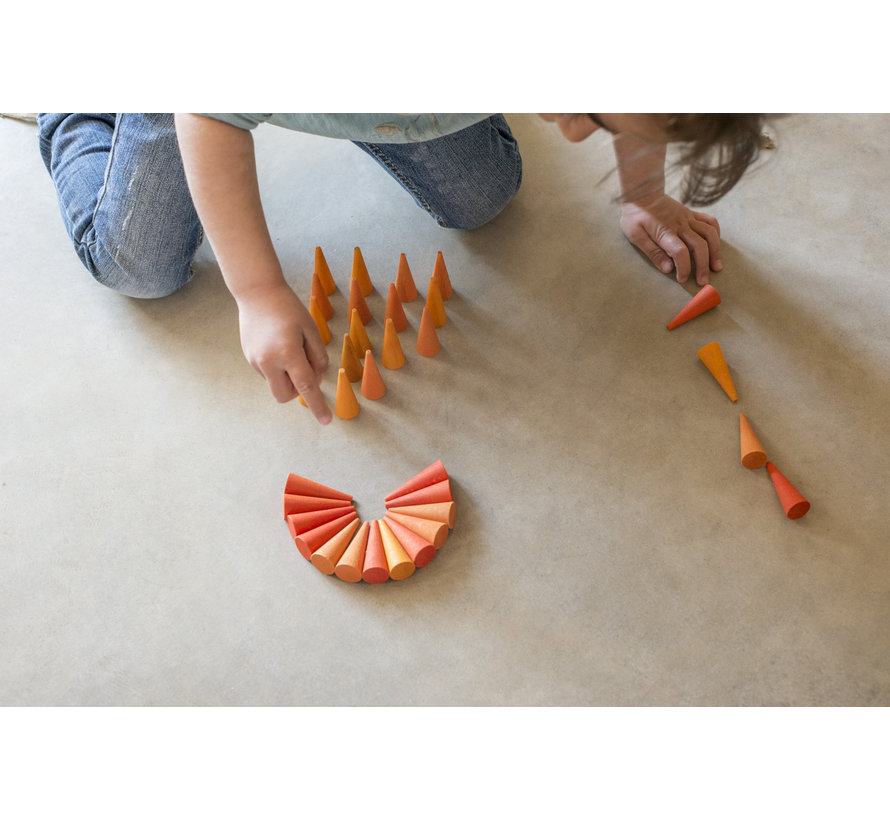 Grapat Mandala Oranje Kegels