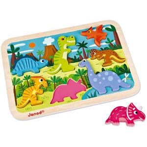 Janod Janod Houten Puzzel Dinosaurussen