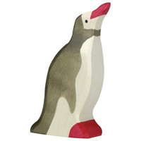 Holztiger Pinguin