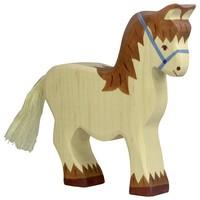 Holztiger Paard met halster