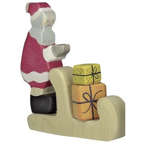 Holztiger Holztiger Kerstman + Arrenslee + Set Cadeautjes
