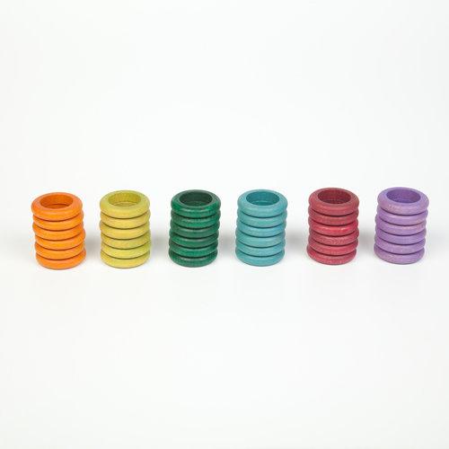 Grapat Grapat Set van 36 ringen in gedekte kleuren