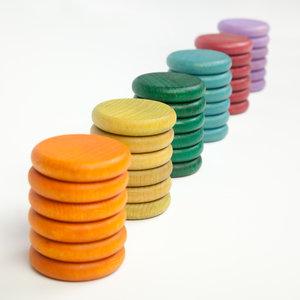 Grapat Grapat Set van 36 munten in gedekte kleuren