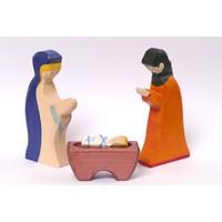 Holztiger Jozef & Maria & kindje Jezus (set van 3 stuks)