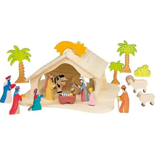 Holztiger Holztiger Boerderij kerststal