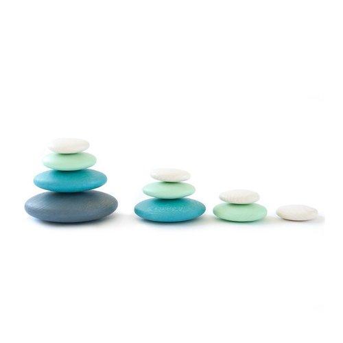 Bajo Houten Speelgoed Bajo Gekleurde houten stenen / pebbles