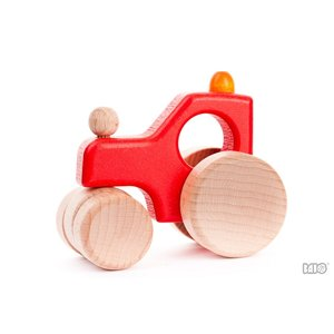 Bajo Houten Speelgoed Bajo Tractor / Stoomwals