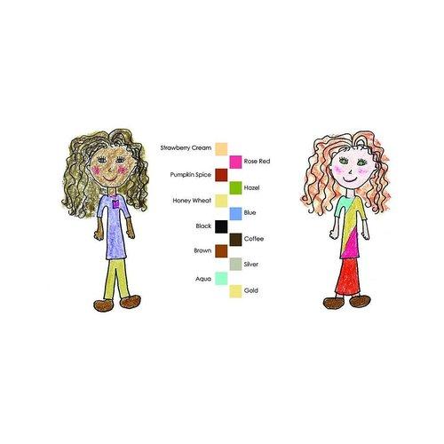 Crayon Rocks Crayon Rocks 12 stuks in haar-, oog- en huidkleur