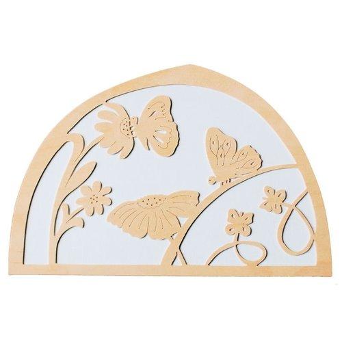 De Noest De Noest Silhouet Vlinder Bloemen