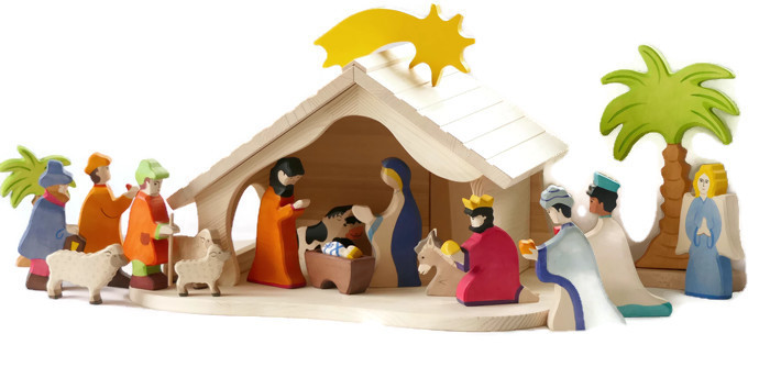 Holztiger Kerststak