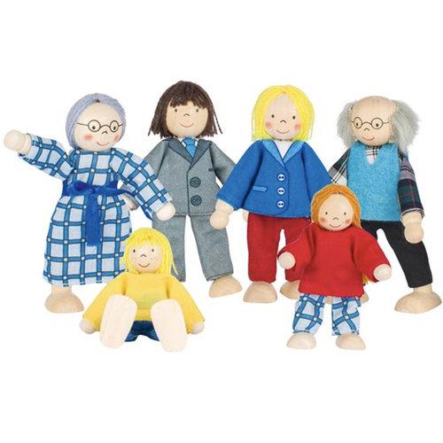 Goki Goki poppen familie 6-delig
