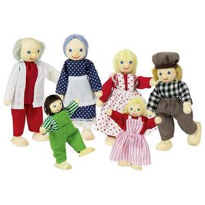 Goki Goki poppen boerenfamilie 6-delig