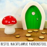 Droomdeurtjes nachtlampje paddenstoel