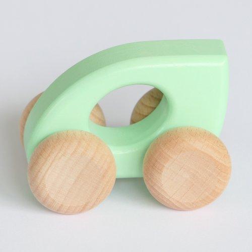 Bajo Houten Speelgoed Bajo Auto Blad (groen, geel of oranje)
