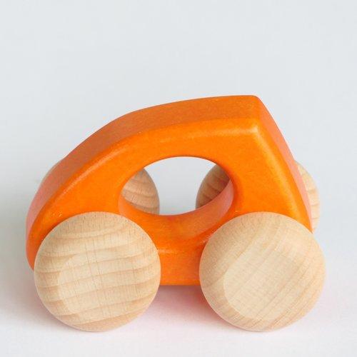 Bajo Houten Speelgoed Bajo Auto Druppel (groen, geel of oranje)