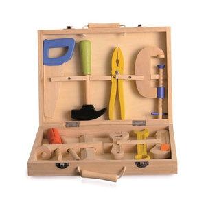 Heico lampen/ Egmont Toys Houten Gereedschapskoffer