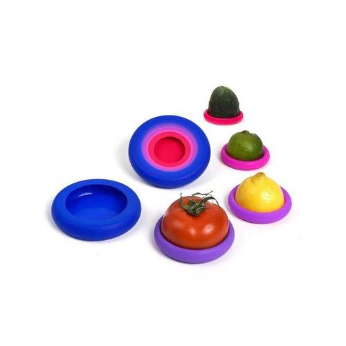 Food Huggers Food Huggers set van 5 Bright Berry