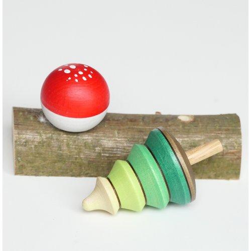 Mader Mader tollen - boom en paddenstoel op stam