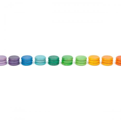 Grapat Grapat Set van 36 regenboog munten